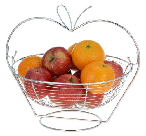 Élégante Rafraîchisseur de bouteille – Corbeille à fruits – Métal – Rigide pour fruits – Corbeille à fruits Support en métal pour oranges, pommes et fruits