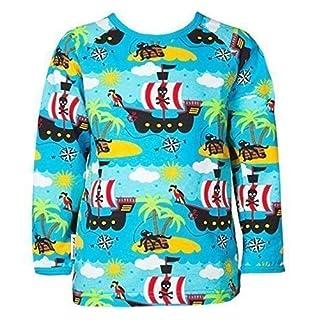 JNY Colourful Kids Boy´s Shirt PIRATE in blue Bio cotton - long-sleeve, 86