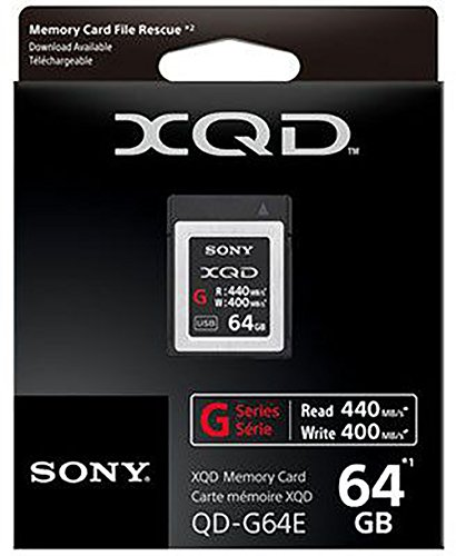 Cheapest Sony 64GB XQD Flash Memory Card – High Speed G Series ( Read 440MB/s and Write 400MB/s) – QDG64E on Amazon