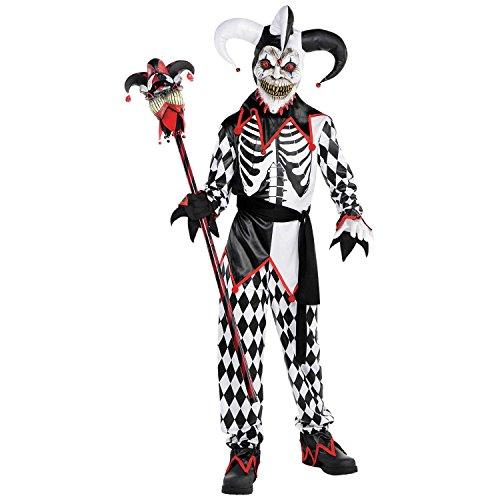 Sinister Jester Costume Age 14-16 - Kindes Sinister Jester Kostüm