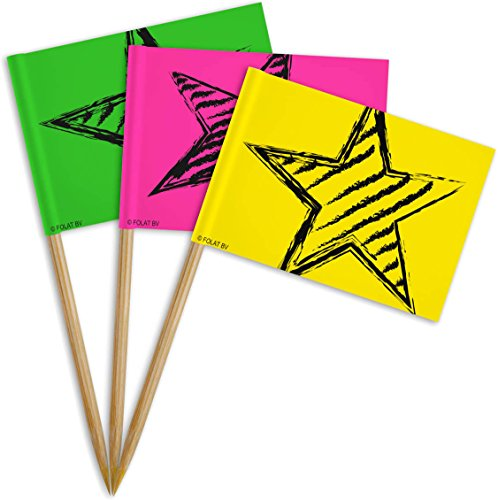 Folat 36x * Neon Party Picker* für Geburtstag Oder Party Picks