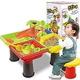 WEIZQ Kinder Strandspielzeug, 24er Set Kinder Sandspielzeug Spieltisch Sand und Water Sommer Kinder SandKasten Strand-Werkzeuge Wasserspielzeug Set für Kinder ab 3 Jahre