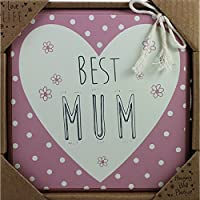 Love Life MDF quadrato Placca & regalo Best Mum