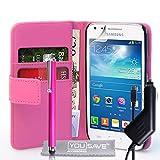 Yousave Accessories SA-EA03-Z852CP Custodia in Pelle con Penna Stilo per Samsung Galaxy Core Plus Rosa
