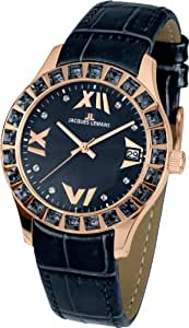 Jacques Lemans Damen-Armbanduhr Rome Analog Quarz Leder 1-1571ZI