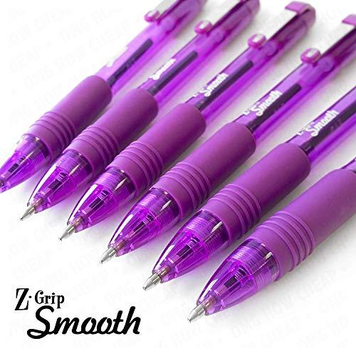 Kugelschreiber Z-Grip Smooth, 6er-Pack - Lila Lila Zebra