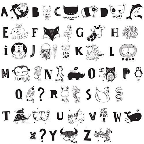 any - Buchstaben und Tiere - Schwarz - für alle Leuchtkästen - Inhalt: 66 Stück ()