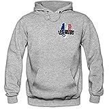 Shirt Happenz Frankreich WM 2018#5 Hoodie | Fußball | Herren | France | Les Bleus | Nationalmannschaft, Farbe:Graumeliert (Greymelange F421);Größe:XL