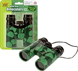 Wild Republic Aquatic Print Crocodile Binoculars, Green