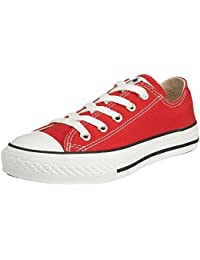 Converse Chuck Taylor All Star Core Ox, Zapatillas Infantil, Blanco-Rojo, 35 EU