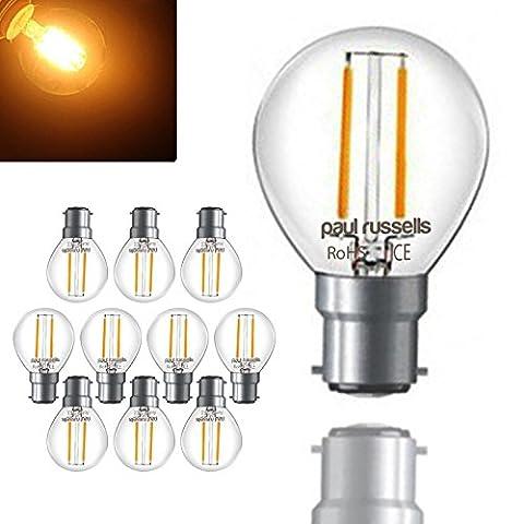 10 x 2W=25W G45 B22 Mini Globe LED Filament Bulb