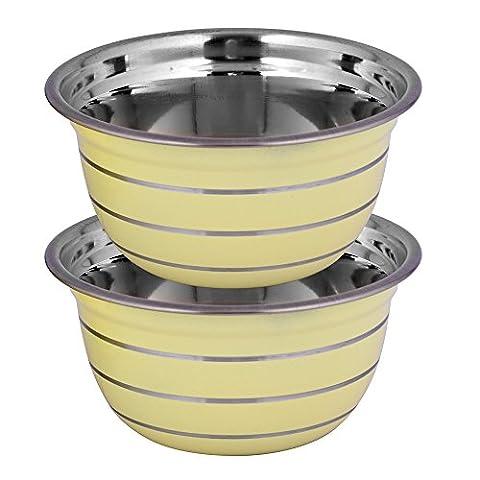 Kosma Set of 2 Stainless Steel Deep Mixing Bowl  