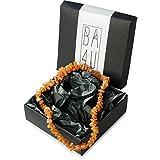 ★ BA4U Bernstein Halsband AC45 ★ 45 cm BA4U Bernsteinkette für Hunde und Katzen ★ Zeckenhalsband ★ Zeckenschutz ★ 100% authentisches und natürliches Produkt ★