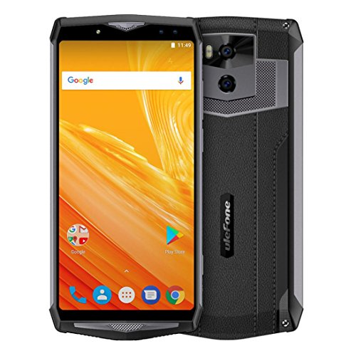 Wokee Ulefone Power 5 Octa Core CPU Smartphone, 6.0 Zoll HD Display, 6GB Speicher, 8MP Kamera, Micro-SD-Kartenslot, Einsteigermodell, Android 8.1, RAM Dual IMEI 13000mAh Mobile Core Duo
