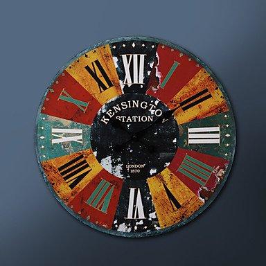 'Y & M 23 H romain chiffres de style rond de métal horloge murale