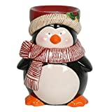 Village Candle-Bruciatore per Tart in cera a forma di pinguino, motivo gelato che si scioglie in ceramica, a forma di pinguino