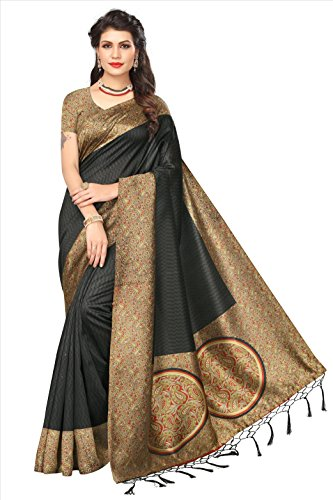 Flosive Women's silk Saree With Blouse Piece (KF-S181158 a_Free Size)