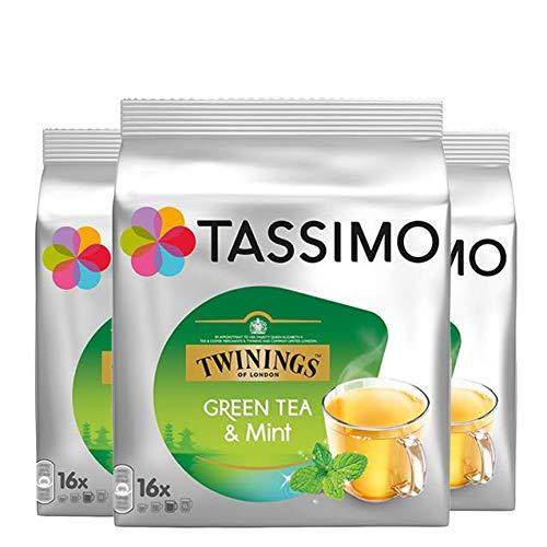 Bosch Tassimo 'Twinings Menta Té Verde' 16 T Disc Cápsulas Máquina Café (Paquete de 3)