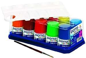 Giotto - 10 flacons de peinture GIOTTO DECOR ACRYLIC 50 ml - couleurs assorties - loisirs créatifs
