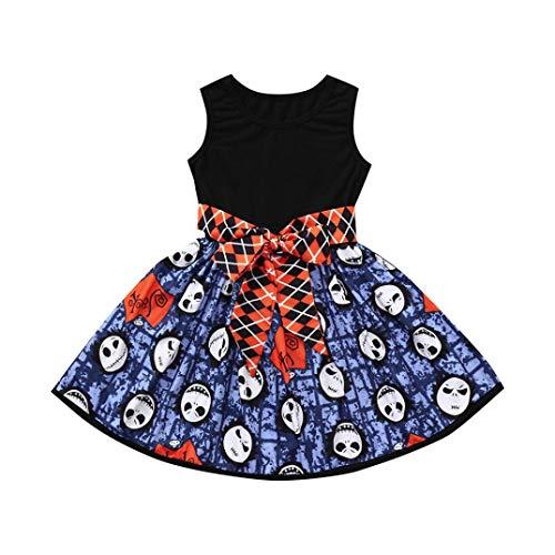 (Baby Halloweenkostüm, Halloween Kürbis Kostüm Outfits für Mädchen Baby, Strampler Overall Halloween Karneval Party/ Kürbis Mini Kleider (Schwarz, 18~24 Monat))