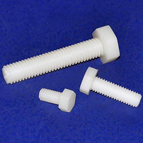 Electronics-Salon 100pcs métrique M10 x mm 60 mm x Vis à tête hexagonale, à tête hexagonale en nylon. af3b43