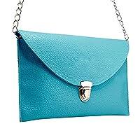 niceEshop(TM) Fashion Women Leather Handbag Shoulder Chain Bags Envelope Clutch Crossbody Satchel Purse ,Deep Blue