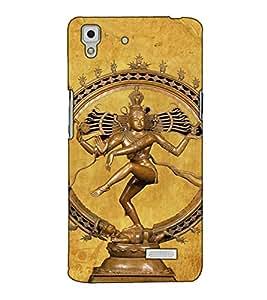 Fuson Designer Back Case Cover for Oppo R7 :: Oppo R7 Lite (Natraj God Of Dance Shiva Agni)