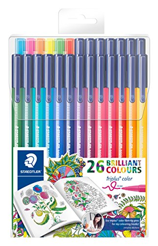 Staedtler 323 TB26JB – Pack de 26 rotuladores de punta fina, tinta multicolor