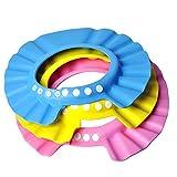 EQLEF® 3 pedazos / porción sombrero del bebé de los cabritos del niño del baño del champú de la ducha del casquillo protector del pelo de lavado directa del visera de gorras para niños Baby Care