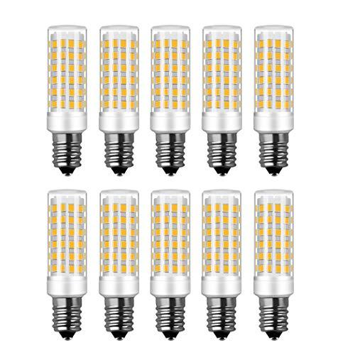 RANBOO E14 LED Lampe 9w Ersatz 75W Halogenlampen, 750LM, Warmweiß 3000K, AC 220-240V, LED Birnen für Kronleuchter, Wandlampe, Kühlschrank und Dunstabzugshaube, Nicht Dimmbar, 10er Pack