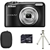 Nikon Coolpix A10 Digital Camera - Black + Case + 8GB Card + Tripod (16.1MP, 5x Optical Zoom) 2.7 inch LCD