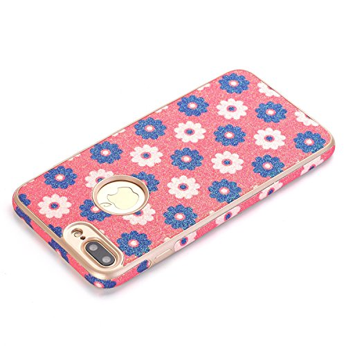 iPhone 7Case, elecfan Flower Pattern Soft Cover Shell Phone Skin Super Slim Screen Protective Smart Case for Apple Iphone 74.7inch A08