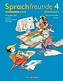 Sprachfreunde - Ausgabe Süd 2004 (Sachsen, Sachsen-Anhalt, Thüringen): 4. Schuljahr - Arbeitsheft: Mit Lernstandsseiten