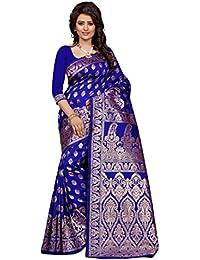 SeeMore Self Design Tassar Silk Color Saree For Women With Blouse Piece