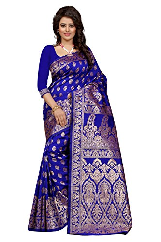 Seemore Tassar Silk Saree (Banarasi 1002 Blue_Royal Blue)
