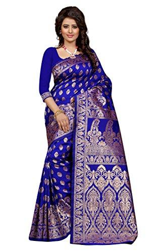 Shree Sanskruti Tassar Silk Saree (Banarasi 1002 Blue_Royal Blue)