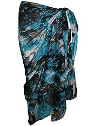 Multicolore Coton Sarong avec Design abstrait