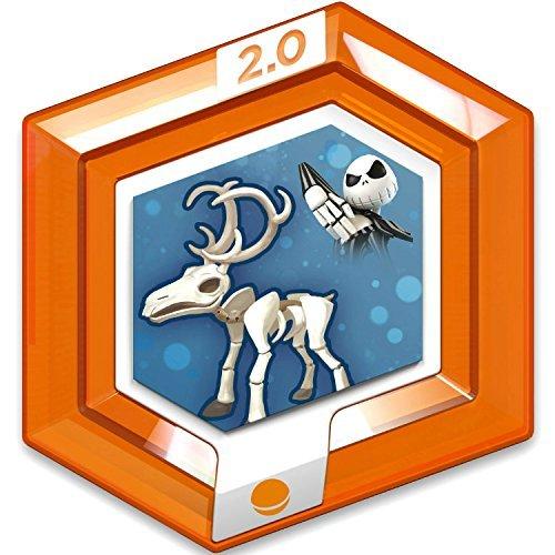 Disney Infinity 2.0 Disney Originals RARE Orange Power Disc - Jack Skellingtons Reindeer by Disney Interactive Studios