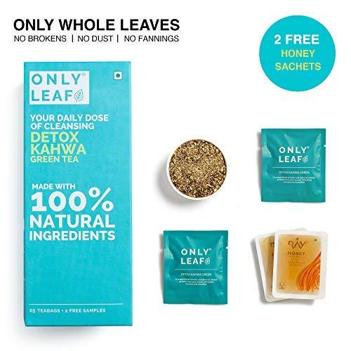 Onlyleaf Detox Kahwa Green Tea, 27 Tea Bags (25 Tea Bags + 2 Free Exotic Samples )