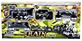 Army Military Train Track Set with Light...
