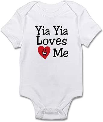 Yiayia Baby Onesie Novelty Infant Bodysuit One-Piece Heart I Love