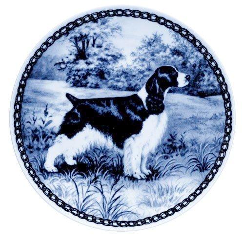 Lekven English Springer Spaniel Design Hund Teller 19,5cm/19,3cm Made in Dänemark Neu mit Zertifikat of Origin Teller # 7001 (Platte Springer Spaniel)