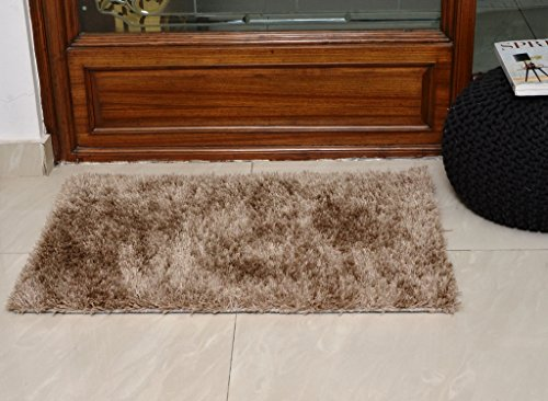 Avira Home Beige Shaggy Area Rug/ Carpet-Small-50x80 Cm