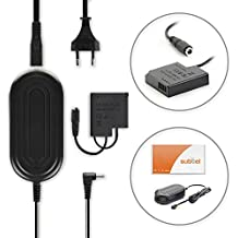 subtel® Fuente de alimentación Panasonic Lumix DMC-GF7, DMC-GM1, DMC-GM5, DMC-GX7 - ca. 3m, DMW-AC5 + DMW-DCC15, 8.4V cable de corriente