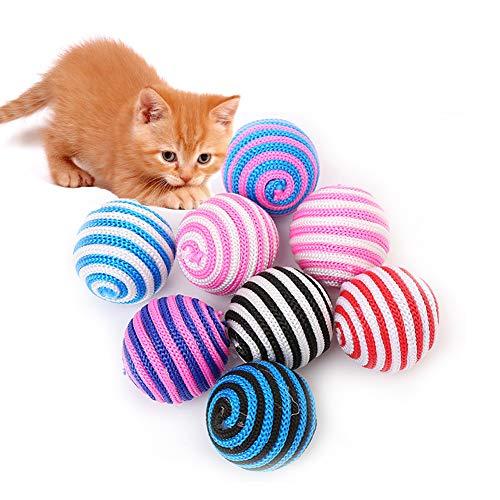 XIYAO Pet Toy Balls, 6 stücke Intelligenz Verrückter Spielball Katzenspielzeug Puppy Kitty Outdoor Activity Play Training -