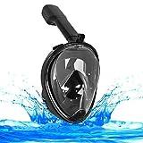 Máscara de Snorkel 180 Grados de vision Mascara de Buceo con el diseño de cara llena respirando libre , tecnología Anti - vaho y Anti - fugas, Ver Más Agua del Mundo con Gran área de Visualización