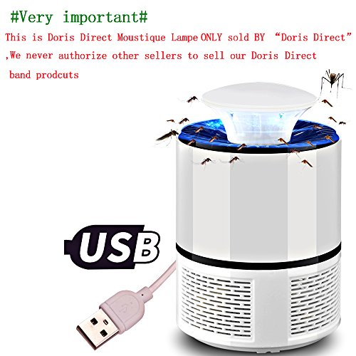 Doris Direct mosquitos lámpara on tóxicas trampa anti-moustique USB UV attirer de inhalador de mosquitos lámpara para casa/oficina/exteriores