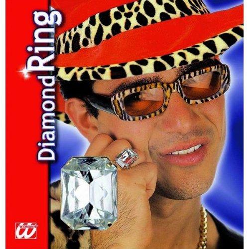 Widmann - AC0101  - Bague avec gros diamant (faux)