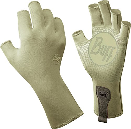 BUFF® SET - WATER GLOVES + UP® Ultrapower Panno tubolare | Della barretta metà | Pesca | Sport acquatici | Vela | Kayak | Nylon, Buff Größe:M / L;Buff Farbe:Light Sage