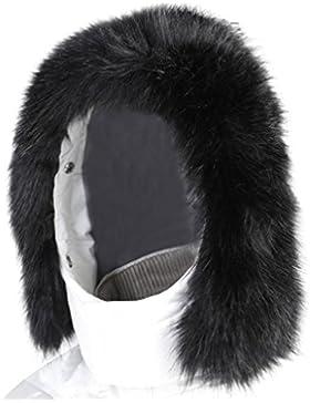 Vogueearth Donna'Procione Pelliccia/Pelliccia Sintetica Faux Fur Due Materiali Scelgono Due Usa Cappuccio Tagliare...